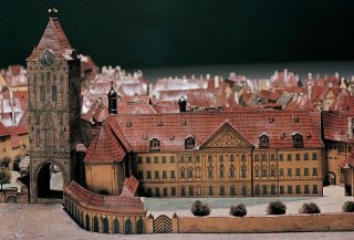 Langweilův model Prahy_Kralův dvůr zdroj:Muzeum hlavního města Prahy