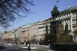 Václavské náměstí a pomník svatého Václava