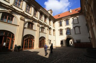 Valdštejnský palác - vnitřní nádvoří