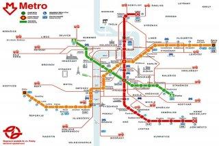 Plán pražského metra