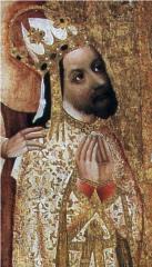 Král a císař Karel IV. na obrazu Jana očka z Vlašimi