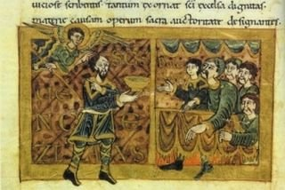 Král Václav II. na hostině