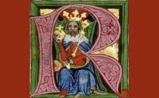 Král Václav II (kresba ze zbraslavské kroniky)
