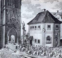 Korunovační průvod - Křižovnické náměstí