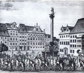 Korunovační průvod - Staroměstské náměstí