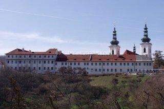 Strahovský klášter - pohled z Petřína
