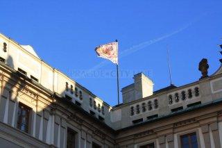 Pražský hrad - standarta prezidenta republiky