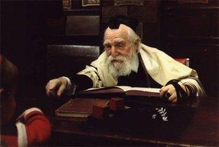 Rabín učí své žáky