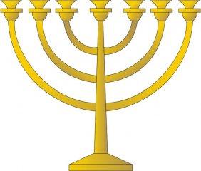Menora - tradiční sedmiramenný židovský svícen