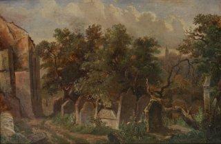 Starý židovský hřbitov a Pinkasova synagoga (1855)