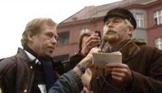 Demonstrace na Škroupově náměstí v roce 1988