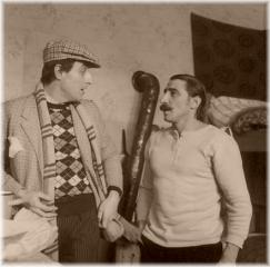 Žižkovský frajer v podání herce Karla Heřmánka ve filmu Fešák Hubert