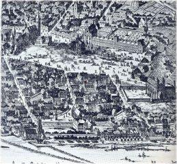 Dobytčí trh (dnešní Karlovo náměstí) kolem roku 1685