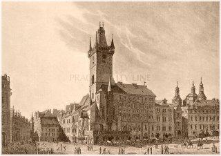 Staroměstská radnice v roce 1825