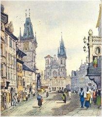 Staroměstské náměstí kolem roku 1826