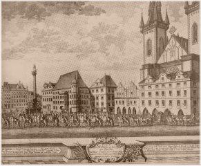 Staroměstské náměstí a korunovační průvod