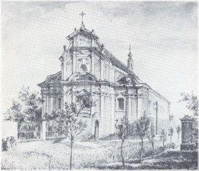 Kapitulní chrám sv. Petra a Pavla před regotizací (1885)