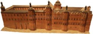Rožmberský palác - model paláce před Tereziánskou přestavbou