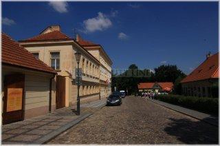 Vyšehrad - Jedličkův ústav (vlevo) a dům Popelky Biliánové (vpravo)