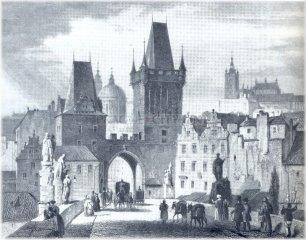 Karlův most a Malostranské mostecké věže (kolem roku 1835)