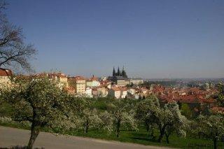 Petřín - výhled na pražský hrad