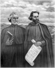 Cyril a Metoděj (romantizující obrázek)