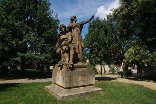 Vyšehrad - sochy - J.V.Myslbek Přemysl a Libuše