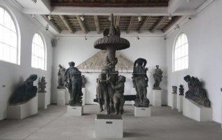 Praha 7 - výstaviště - Lapidárium Národního muzea - interiér