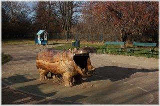Praha 7 - Letná - dětské hřiště U hrocha