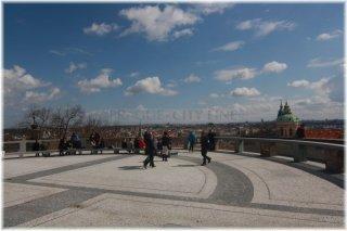 Pražský hrad - zahrada Na Valech - Plečnikova vyhlídka
