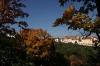 Petřín - výhled na Strahovský klášter a ulici Úvoz