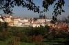 Petřín - zahrady a pohled na Pražský hrad