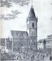 Dobytčí trh (dnešní Karlovo náměstí) kolem roku 1743