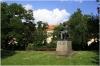 Praha 2 - Karlovo náměstí a socha českého vědce J.E. Purkyně