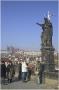 Karlův most a socha sv. Jana Křtitele