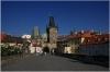 Karlův most v pozadí Malostranské mostecké věže