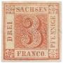 První výplatní známka Saského království