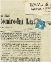 Novinová známka tzv. modrý Merkur - Rakousko 1851