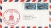 Americká letecká obálka odeslaná z Houstonu 1. června 1969