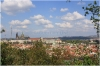 Petřín - Zahrada Nebozízek - výhled na Pražský hrad