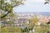 Petřín - zahrada Nebozízek - výhled na Staré město