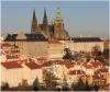 Pohled z Petřína na Pražský hrad