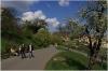 Petřín - Strahovská zahrada, cesta pod Strahovským klášterem