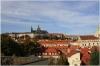 Vrtbovská zahrada - výhled na Pražský hrad a Staré město
