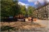 Petřín - zahrada Kinských dětské hřiště u dolní brány
