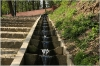 Petřín - zahrada Kinských schody s tekoucí vodou