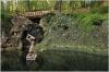 Petřín - zahrada Kinských jezírko s Herkulem