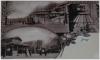 Praha 7 - Letná - dobová pohlednice, vidíte zde dolní stanici lanové dráhy a provoz lanovky