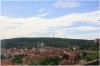Kramářova vila - výhled ze zahrady na Prahu