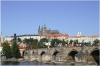 Karlův most a panorama Pražského hradu